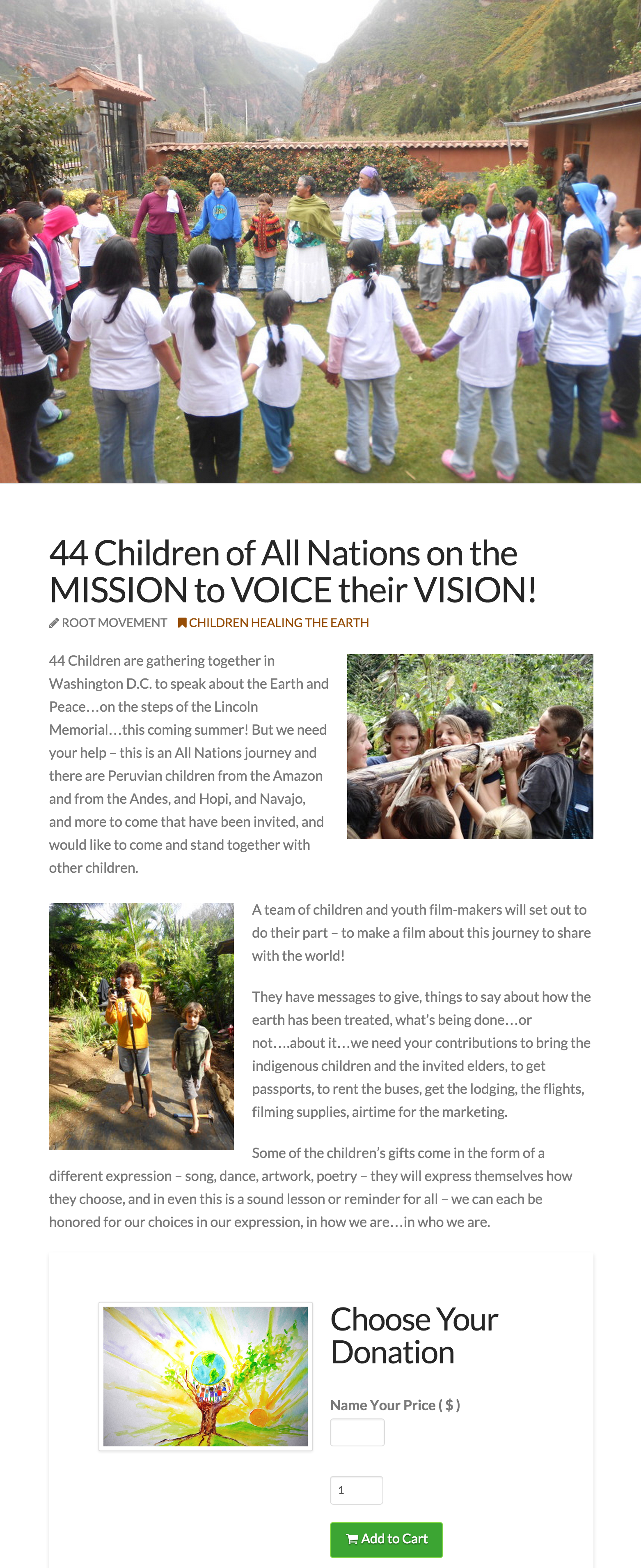 44 Children of All Nations on the MISSION to VOICE their VISION Root Movement